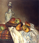 Bottle and Pears